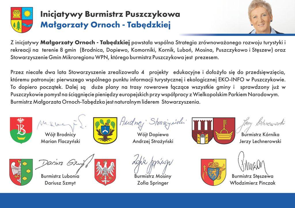 Inicjatywy Burmistrz 2006-2010